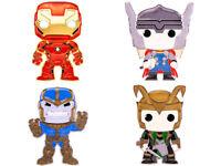 Funko Marvel Large Enamel Pop Pin Thanos Loki Thor Iron Man Lot