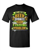 Beer Drinker With A Fishing Problem Fish Animal Funny DT Adult T-Shirt Tee