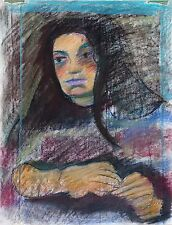 "Michael Steiner ""Woman Series #4"",  Orig Pastel & Charcoal, 23""h x 17""w image"