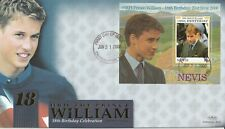 NEVIS 21 JUNE 2000 PRINCE WILLIAM 18th BIRTHDAY S/S BENHAM LE FIRST DAY COVER