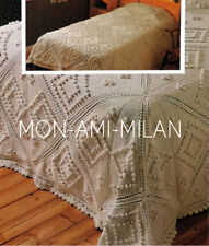 KNITTING PATTERN To Make BEAUTIFUL HEIRLOOM BEDSPREAD THROW COVER Single/Db/King