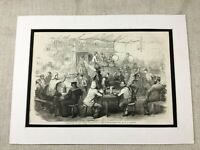 1856 Print The Crimean War Kadikoi Cafe Battle of Balaclava Old Original Antique