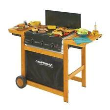 Campingaz Adelaide 3 Woody DualGas Barbecue a Gas 3 Bruciatori con Ruote - Nero/Marrone (3000005744)