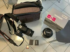Canon EOS 2000D  + SD + BORSA + OBIETTIVO EXTRA + BATTERIA EXTRA
