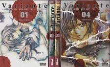 VARIANTE requiem pour le monde tomes 1 à 4 IQURA manga shonen SERIE COMPLETE