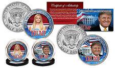 DONALD & IVANKA TRUMP 45TH PRESIDENT/1ST DAUGHTER JFK HALF DOLLAR 2 COIN SET!
