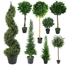 Realistic LARGE Artificial Topiary Ball Plants, Cone Bay Boxwood Spiral Trees