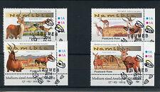 Namibia 2014 CTO Medium Sized Antelopes 4v Set Wild Animals Lechwe Springbok