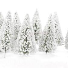 10 Model pine Trees White snow winter forest train railway War game Scenery