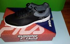Mens Running Memroy Foam Fila shoes 10 12.Half black corner an Fila signs gray.