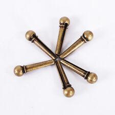 6pcs Golden Brass Bridge Pins with Saddle Nut Set for Acoustic Guitar Best Braw