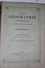RECLUS. NOUVELLE GEOGRAPHIE UNIVERSELLE. L'EUROPE CENTRALE.