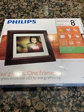 "Philips Home Essentials Digital Photo Frame Black Wood 8"" LCD"