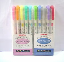 Zebra Mildliner 10 color / Double-Sided Highlighter Marker / Japan