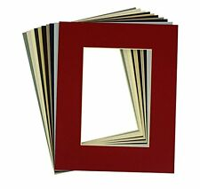 Pack of 20, 8x10 MIXED COLORS Cream Core Picture Mats or 5x7 Photo