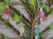 Set of 4 Miniature Wrapped Sweet Christmas Tree Cracker Decorations 30mm (B07)