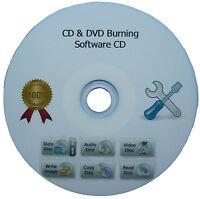 CD DVD BURN BURNER BURNING COPY BACKUP CLONE EDIT SOFTWARE SUITE + WINDOWS