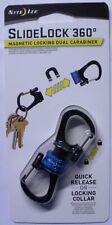 Nite Ize Blue SlideLock 360° Magnetic Locking Aluminum Carabiner MSBL-03-R7 NEW