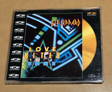 DEF LEPPARD love bites RARE GOLD CD VIDEO single OOP HTF