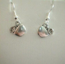 Cute New Tibetan Silver Apple Dangle Drop Earrings - Great Teachers Gift!