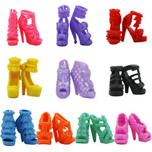 10Pairs High Quality Sandal Shoes Boots Accessories Clothes For 12 in. Doll Gift