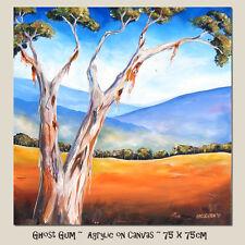 DEBORAH BROUGHTON ART Original Acrylic Painting - Australian Landscape Ghost Gum