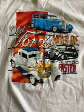 VTG Fords Never Die T Shirt Hanes Beefy T Medium White Single Stitch 1988 USA