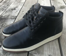 COLE HAAN Vartan 2.0 Midcut Black Smith Leather Chukka Dress Sneaker Casual 12