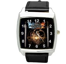 Juego de tronos libro peli película DVD Negro Banda Acero Inoxidable Reloj Cuadrado De Cd