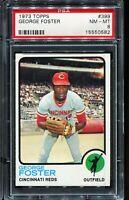 1973 Topps Baseball #399 GEORGE FOSTER Cincinnati Reds PSA 8 NM-MT