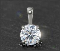 Diamant Damen 585 Gold Brillant Anhänger 1,02 ct, Wesselton, Si; Weißgold NEU
