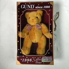 Gund Limited Edition Bears Jointed Collector's Edition 1996 Yellow In Box