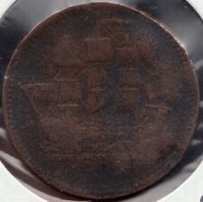 c.1830 - Prince Edward Island - Ship / Colonies - ½ Penny - Superfleas - bent