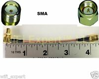4 inch SMA Female RIGHT ANGLE Bulkhead to SMA MALE RF pigtail Cable COAX RG316