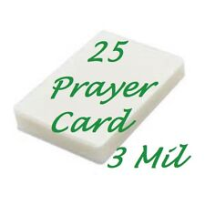 Prayer Card 25 pk 3 Mil Laminating Pouches Laminator Sheets 2-3/4 x 4-1/2