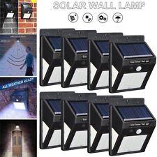 8X 30Led Solar Powered Security Light Motion Sensor Outdoor Garden Wall Lamp Us