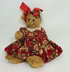 Bearington Bears Collection Vicki Foxworth Plush w Tags Red Floral Dress
