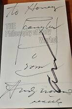 SIGNED W. SOUP CAN DRAWING,THE PHILOSOPHY OF ANDY WARHOL FROM A TO B~ANDY WARHOL