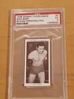 1938 Churchman Max Baer Boxing Personalities PSA 5 EX
