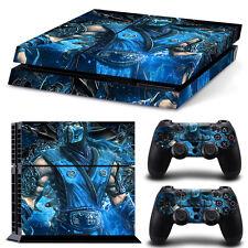 PS4 Skin & Controllers Skin Vinyl Sticker PlayStation 4 Sub Zero Mortal Kombat