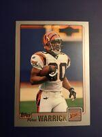 2001 Topps #92 PETER WARRICK Cincinnati Bengals WR FSU Great Card LOOK !