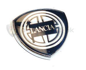 New GENUINE Lancia Y10 Kappa Lybra etc Pillar badge 30mm x 30mm 7765022