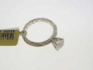 TACORI PLATINUM SEMI-MOUNT 0.36 CTW DIAMONDS - SIZE 6.25 US - RETAIL $4950.00!!