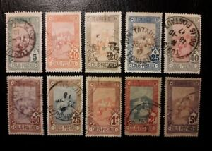Tunisia -French Colonies SET OF USED STAMPS (TAXE ) (1 stamps short perforation)