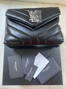 Loulou Toy Matelasse Calfskin Flap-Top Shoulder Bag, Black Hardware