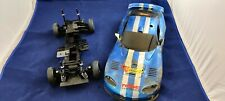 Tamiya TL-01 Chassis mit Corvette Bastler-Karo RC Car 1:10 Auto 4WD