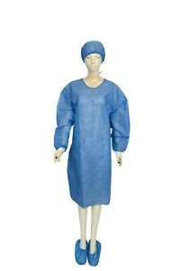 New  Kit Surgical Isolation Gowns with cuffs, Booties and Hats. 10PCS/63.00