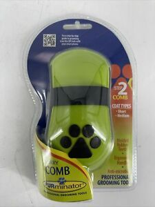 FURminator Curry Comb with Rubber Teeth for Short/Medium Coats Dog Grooming NEW