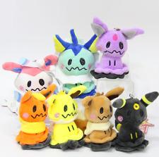 7pcs Set Plush Toys Mimikyu Sylveon Umbreon Eevee Doll Pendant Keychain