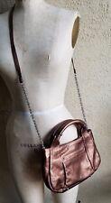 Hip B MAKOWSKY Copper Metallic Leather Crossbody Bag